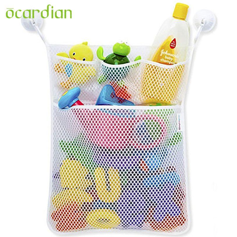 Lovely Kids Bath Tub Toy Bag Hanging Organizer Storage Bag For Baby Bathing L