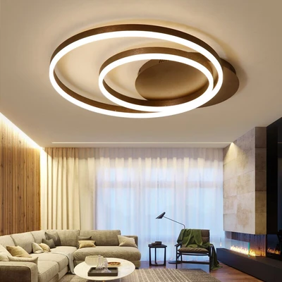 Creative Rings Modern Ceiling Lights For Living Room In 2020