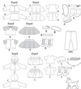 Image result for Free Printable Baby Clothes Patterns