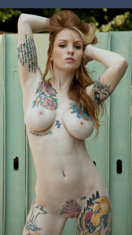 Can Sexy naked chick tattoos where