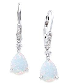 Opal (3-5/8 ct. t.w.) and Diamond Accent Drop Earrings in Sterling Silver