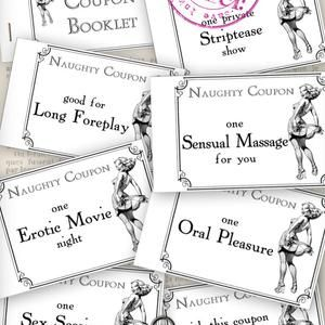 Mens Gift Naughty Coupons Printable Valentine Sexy Coupons | Etsy