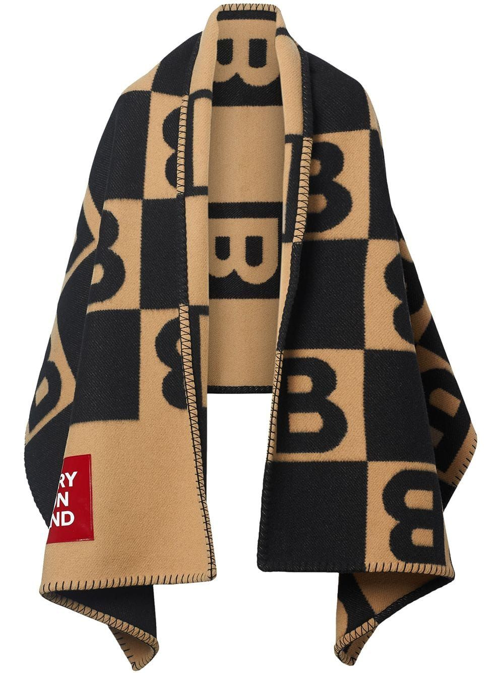 Photo of Burberry Reversible Cashmere Blanket Cape Ss20