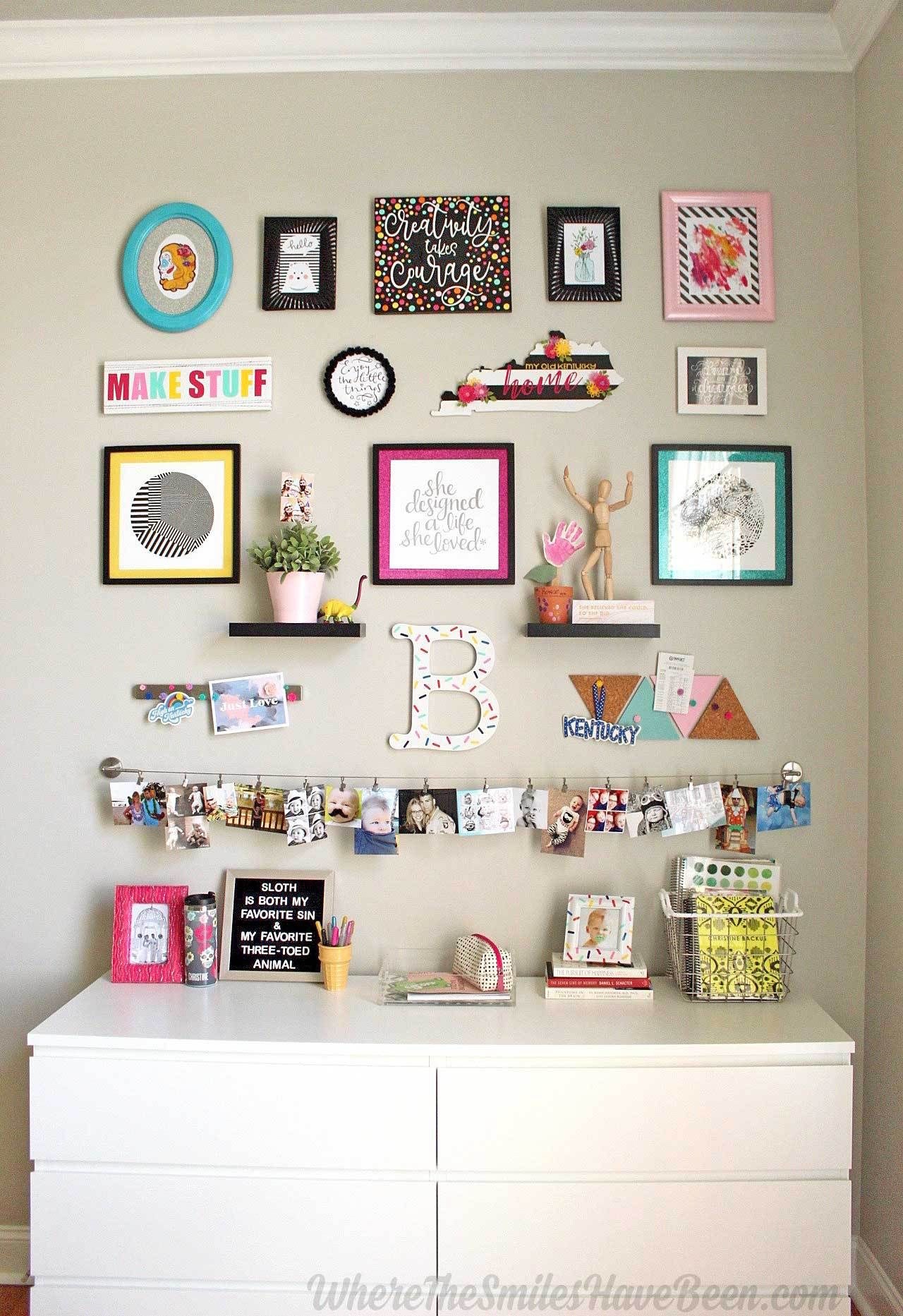 Colorful Craft Room Gallery Wall Craft Room Diy Home Decor For