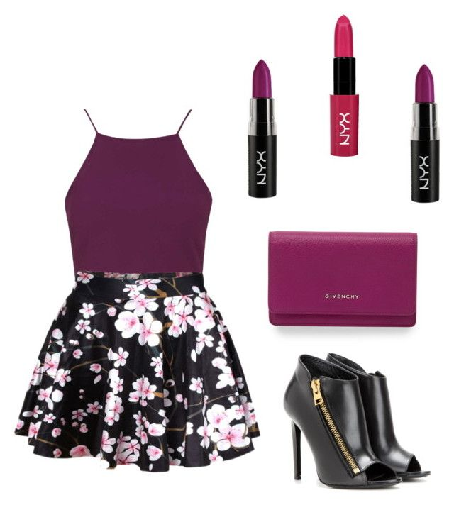 """""""Purple Mania"""" by kandilover2003 ❤ liked on Polyvore featuring Topshop, NYX, Givenchy and Tom Ford"""