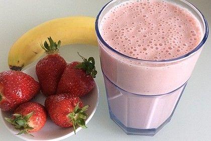 Erdbeer-Bananen-Smoothie mit Haferflocken und Joghurt von hatecake | Chefkoch