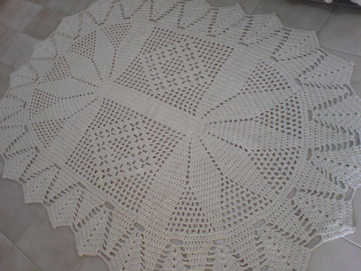 #BaiduImage tapete oval de croche grande em barbante com ...
