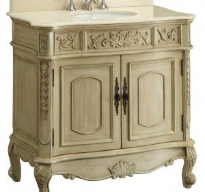 Classic 46 Inch Bathroom Vanity Adelina Unique Antique Bathroom