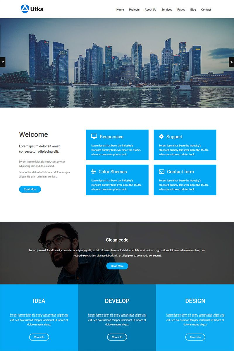 The Best Bootstrap Templates   Template and Website