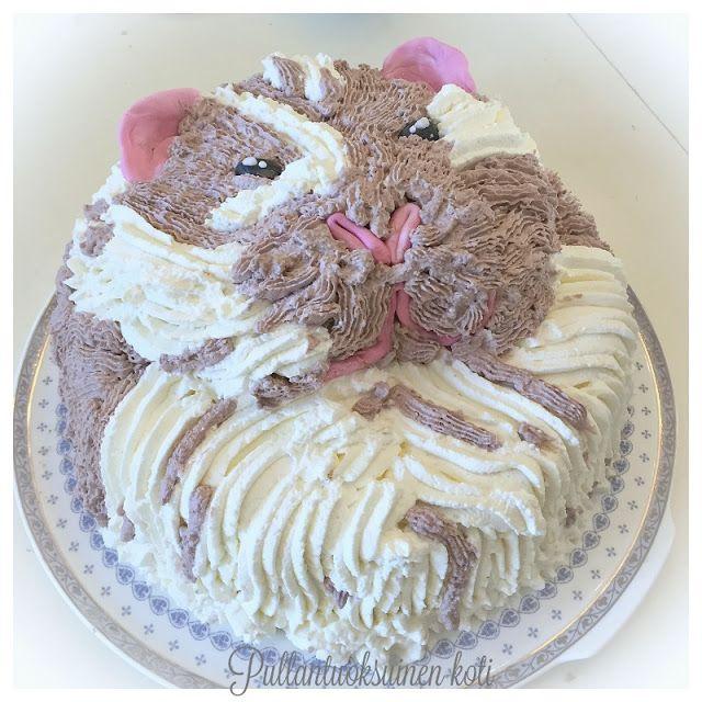 Pullantuoksuinen koti: Marsutäytekakku - Guinea pig cake