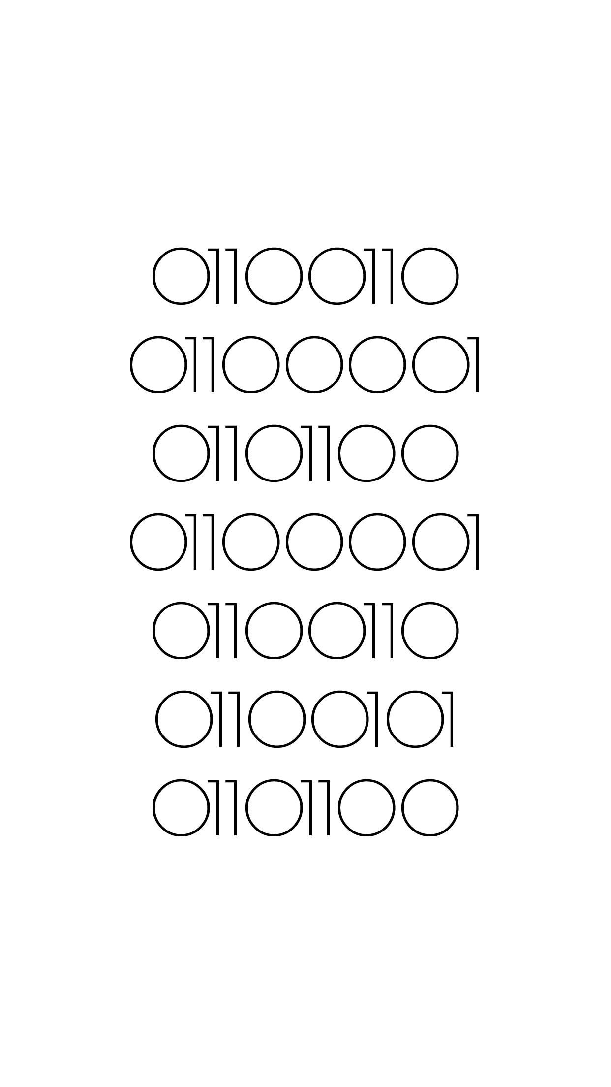 Falafel Binary Code Code Art Iphone Background