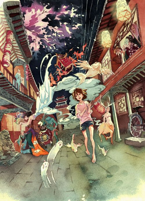 """""""illustratosphere:  怪力乱神——狐嫁女 by 梦游兔  """""""