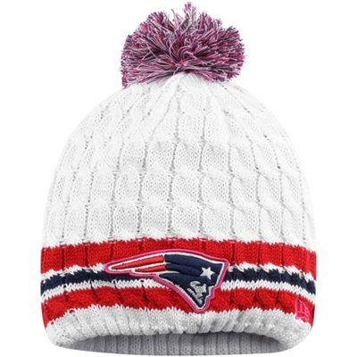 New England Patriots New Era Women s 2014 Breast Cancer Awareness Knit Hat  With Pom – White 8a7bd598f