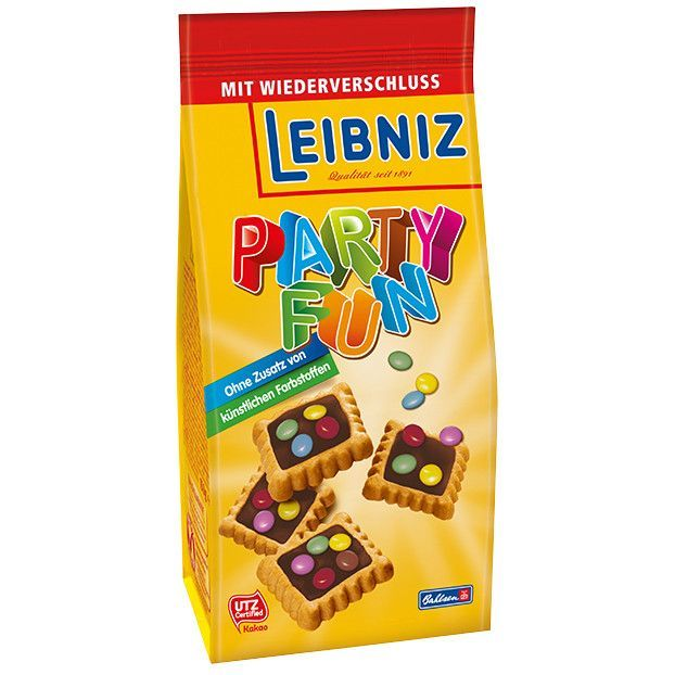 -in USA- Bahlsen Leibniz Party Fun mini biscuits - 150g