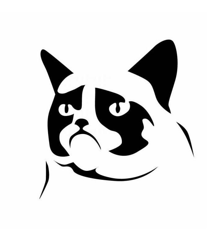 Grumpy Cat Pumpkin Stencil   Things   Pinterest   Plotten ...