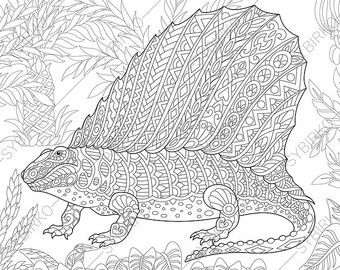 Pterodactyl Dinosaur. Pterosaur. Dino Coloring Pages ...