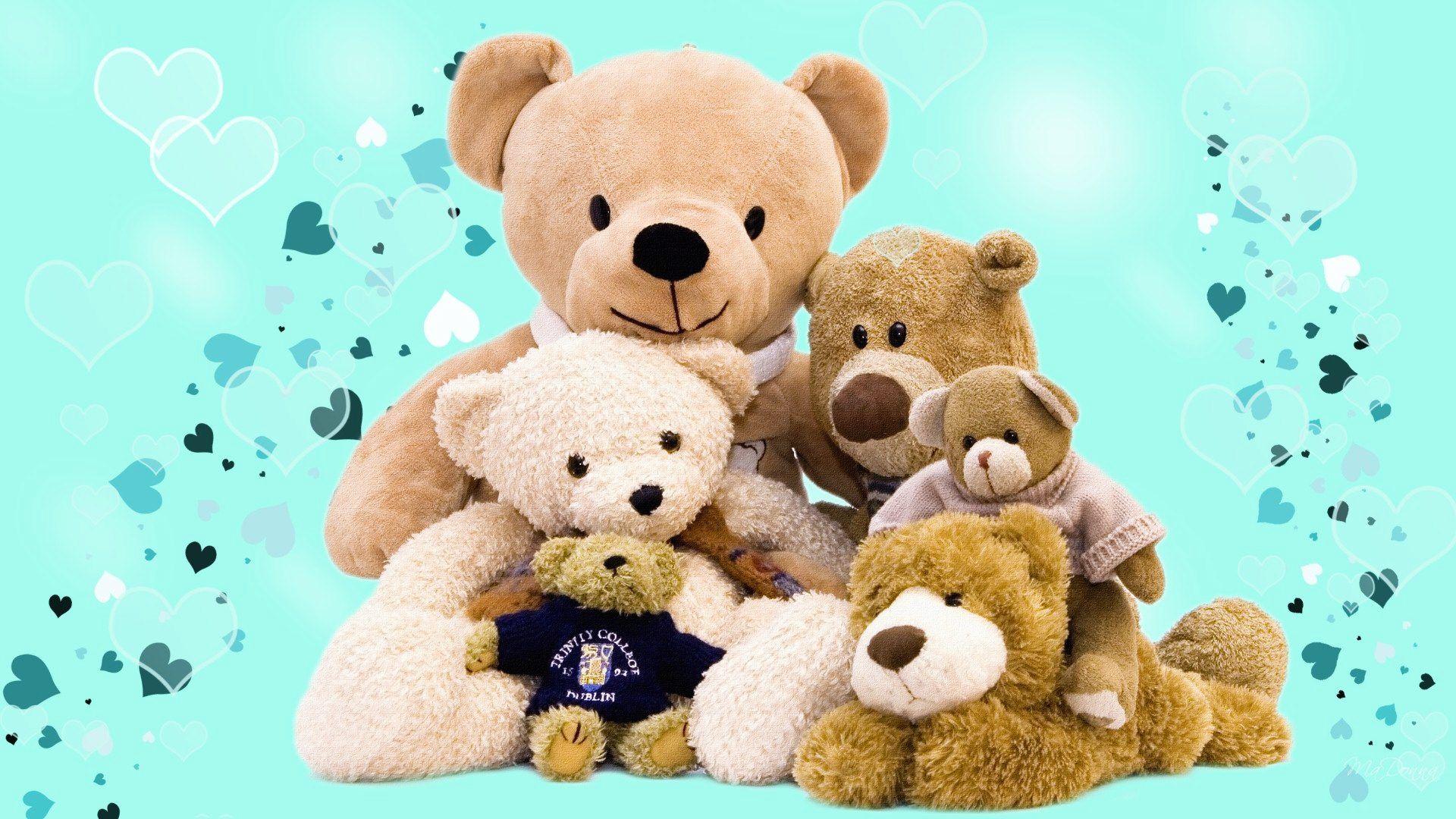 Teddy Bear Family Lovely Wallpapers 1080p Full Hd