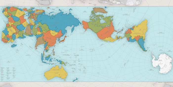 This is the AuthaGraph- the most accurate world map. It ...