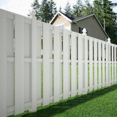Veranda Palatine 6 Ft H X 6 Ft W White Vinyl Shadowbox Fence