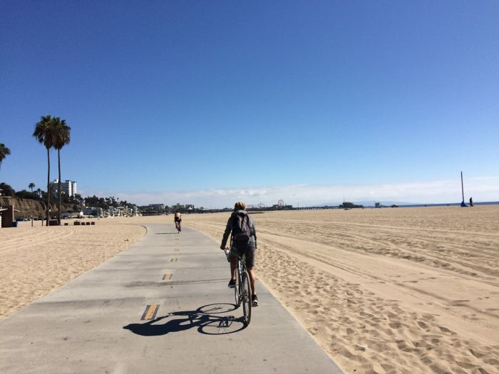 Cycling in Santa Monica, Los Angeles, USA #roadtrip