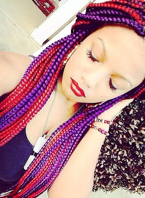 Box braids. My two favorite colors!