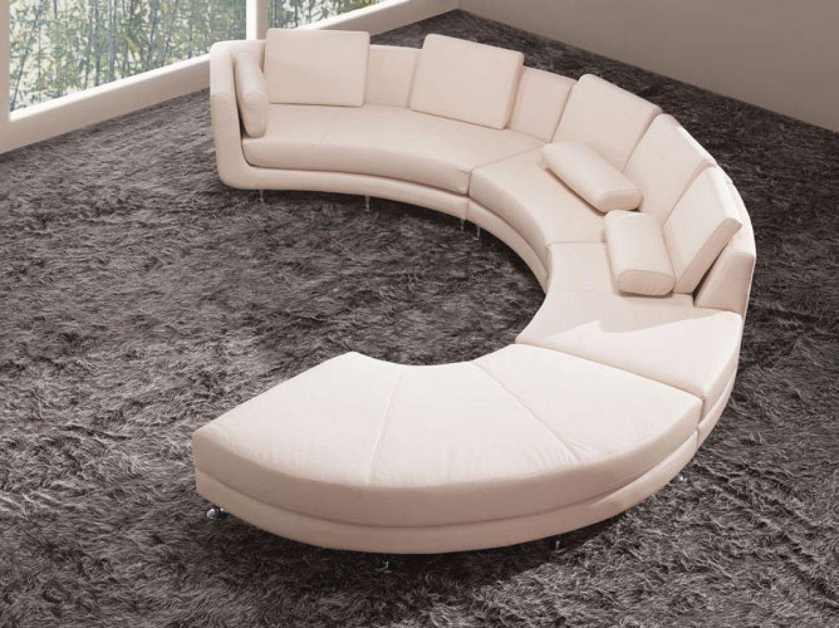 Divani Casa A94 - Contemporary Bonded Leather Sectional Sofa ...
