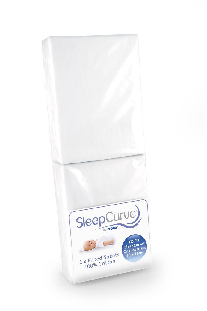 Pack Of 2 SleepCurve Crib Mattress Sheets