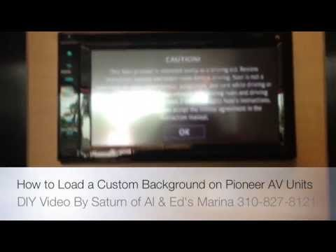 How To Upload A Custom Boot Screen On A Pioneer Navigation Unit
