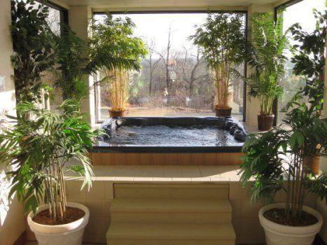 Yep Necessity Hot Tub Room Indoor Hot Tub Hot Tub Landscaping