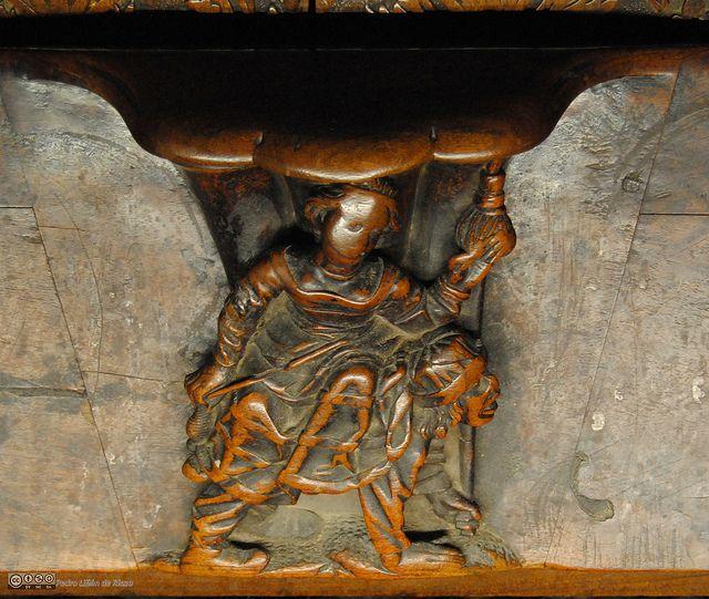 Filis Monta A Aristóteles Misericordia De La Sillería Baja Del Coro De La Catedral De Toledo Maestro Rodrigo Alemán Lion Sculpture Art Statue