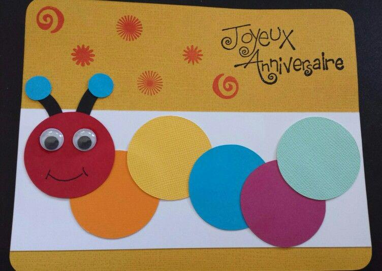 Joyeux Anniversaire Enfant Carte Scrap Birthday Child Card Carte Anniversaire Scrapbooking Carte Anniversaire Enfant Carte Anniversaire