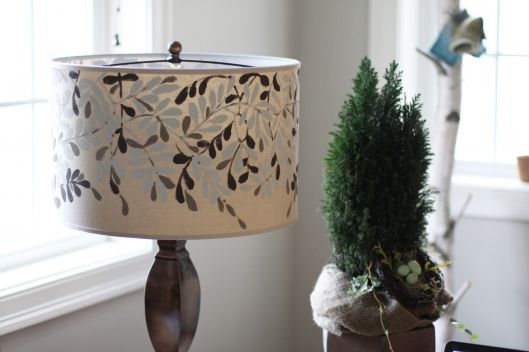 DIY hand painted Lampshade