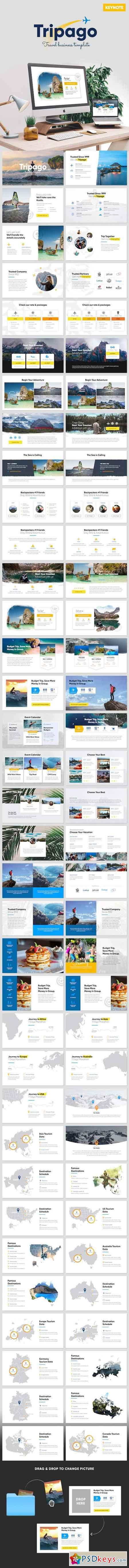 Tripago Travelling Business Keynote Template 20758016 Brochures