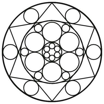 easy mandala coloring pages # 21