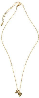 ShopStyle: Cross And Leaf Mini Charm Necklace