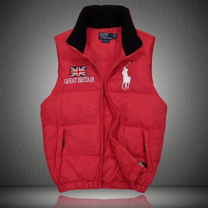 New Ralph Lauren big pony polo Red Discount Vest great britain Flag For Men