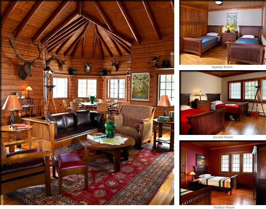 Jonas Brothers Texas Home Stunning Rustic Living Room: SUNY-ESF Northern Forest Institute, Arbutus Great Camp