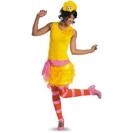 Free Shipping Buy Big Bird Women Adult Halloween Costume at Walmart