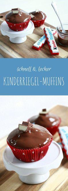 Kinderriegel-Muffins: Rezept für Geburtstagsmuffins oder Wiedergutmachungsmuffins #chocolatecupcakes