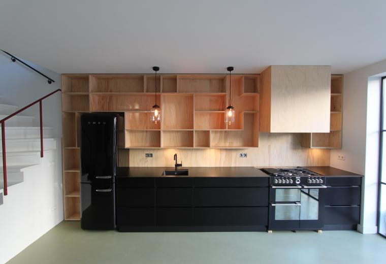 Keukenwand met verlichting kitchens diningrooms