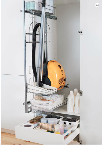This Is From Ikea Handy I Think I D Like One For Ironing Board Hoover Etc Ikea Storage Ikea Utrusta Kitchen Cupboard Storage