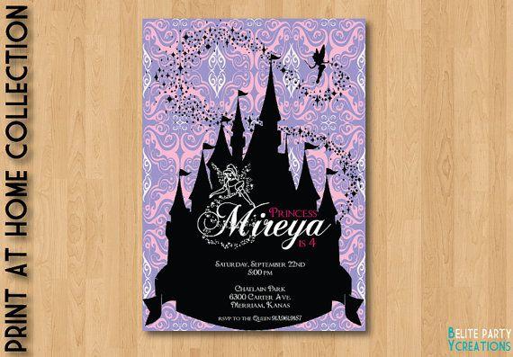 Printable Disney Princess Shilouette Invite by ElitePartyCreations, $9.75