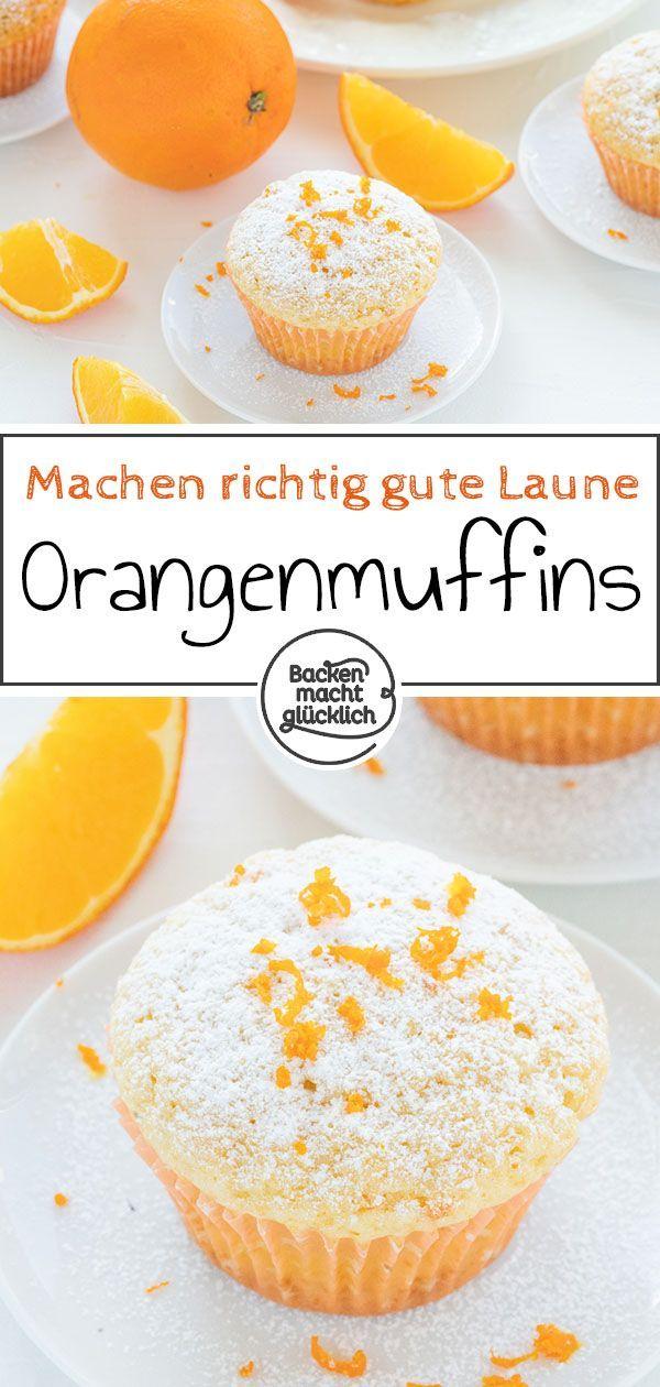 Schnelle, fluffige Orangenmuffins mit Joghurt