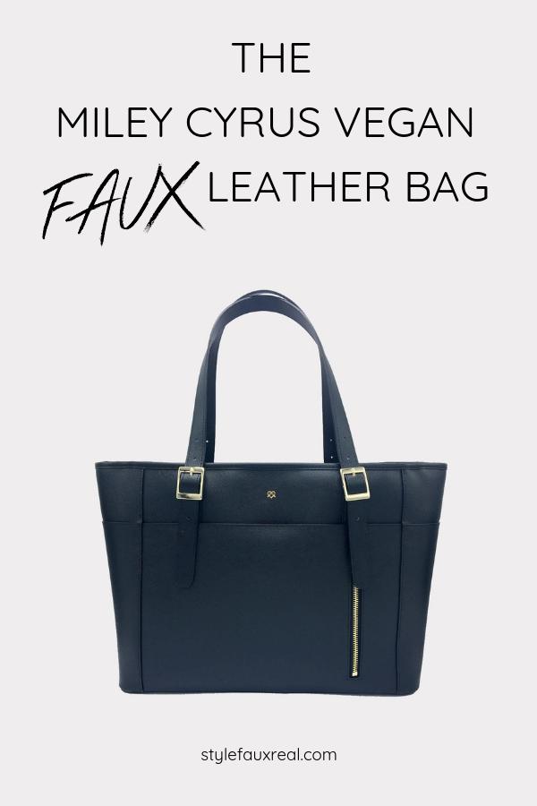 Gunas New York Miley Luxury Vegan Laptop Bag Faux Leather Bag Faux Leather Purse Purses