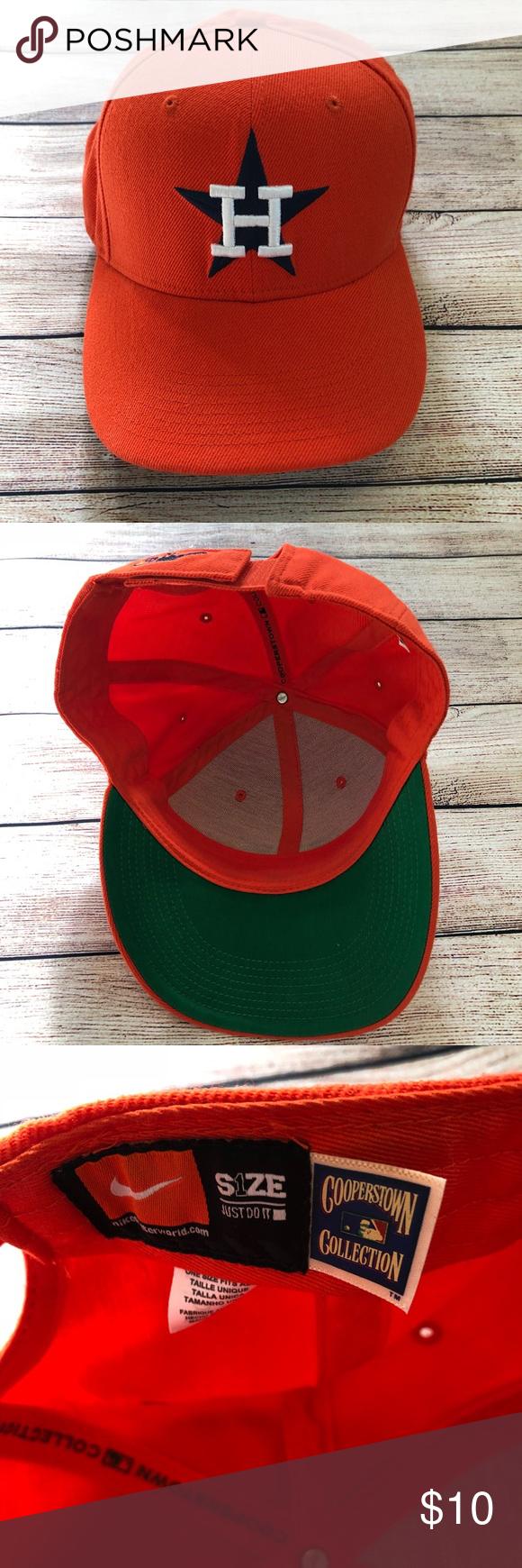 b968ea61 Nike Astros Hat Orange Adjustable Orange Nike Astros Hat. Smoke free home.  Adjustable back. See pics for details! Nike Accessories Hats