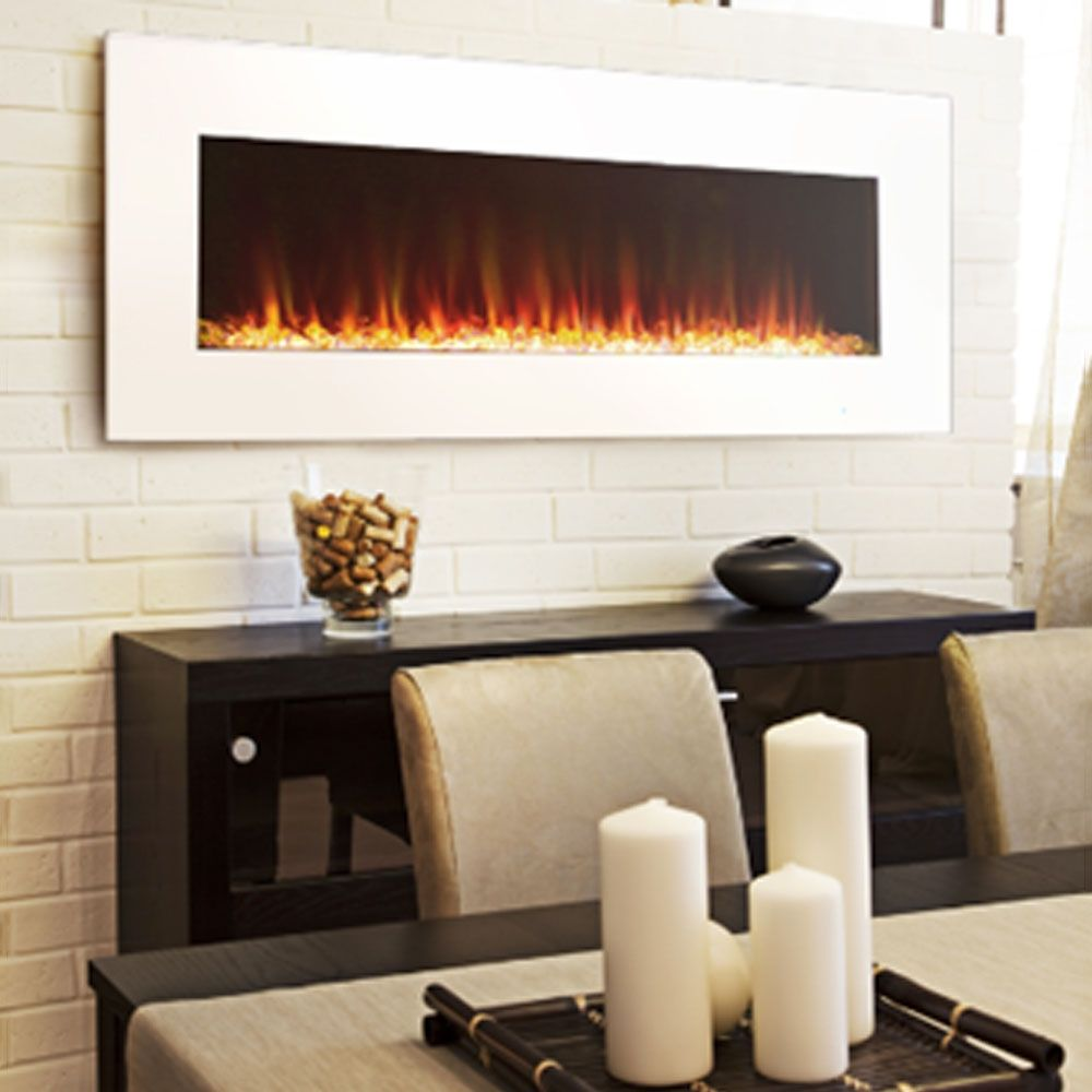 Shop Paramount Ef Wm373 Mo 42 In Slim Wall Mount Fireplace With Tri Color Led Flame At Lowe Wall Mount Fireplace Wall Mounted Fireplace Dining Room Fireplace