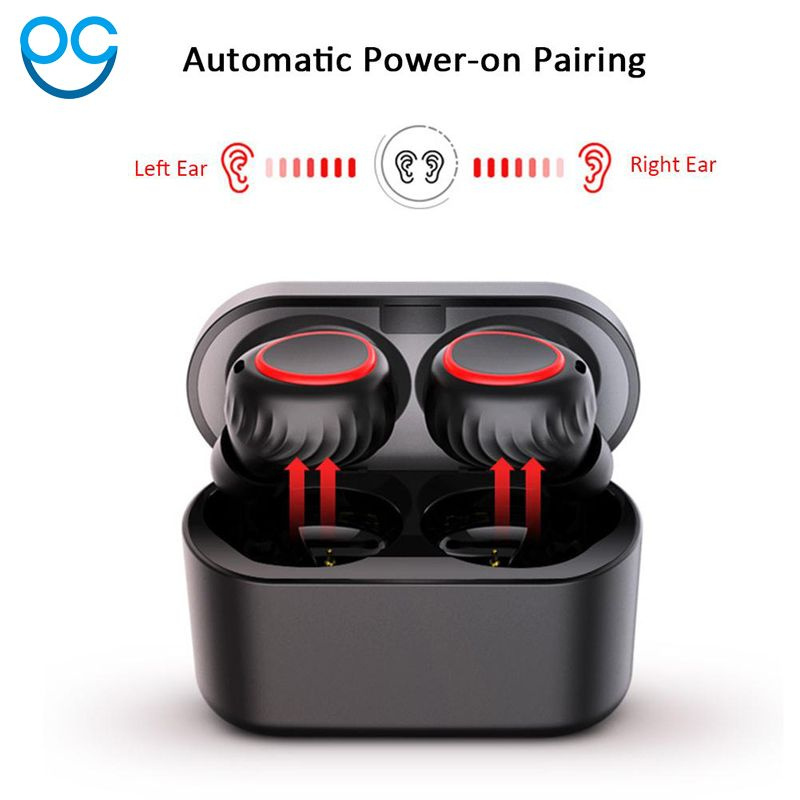Mini 5 0 Mini Bluetooth Headset Stereo Earbuds Airpro Air Pods Wireless Earphone Earbuds For Iphone 6 7 8 Plus Xiaomi Headsets Review Bluetooth Headset Wireless Earphones Earphone