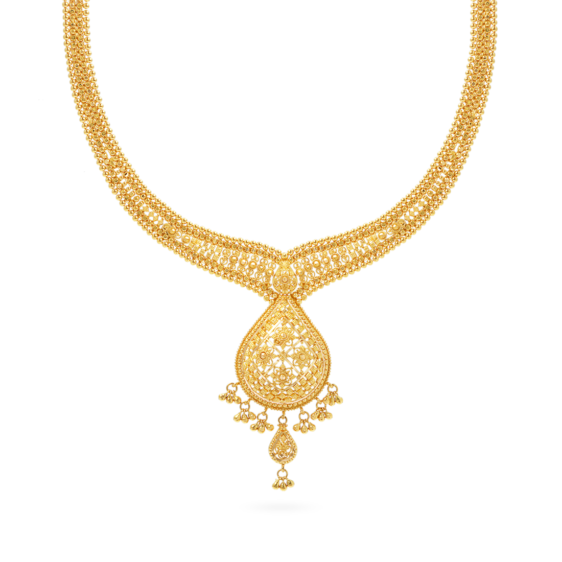 Jali 22ct Gold Filigree Necklace | Love Gold | Pinterest | Gold ...
