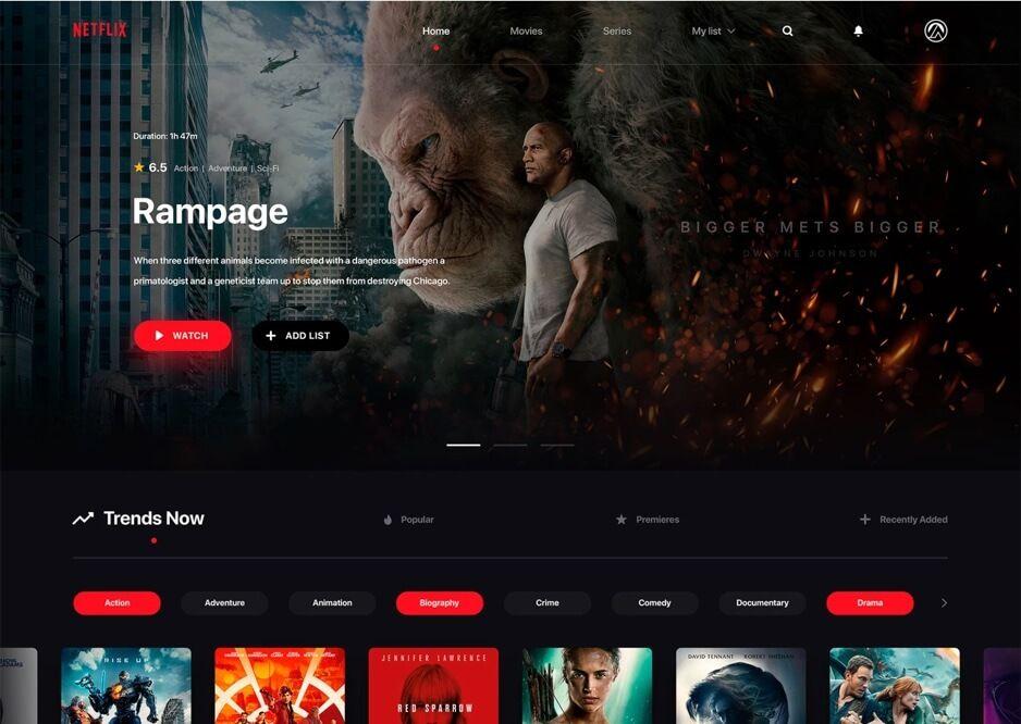 Netflix Redesign Website Psd Psd Web Design Web Design Inspiration Netflix