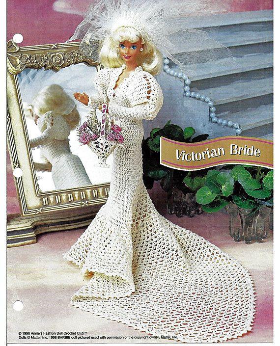 Victorian novia ganchillo patrón Annies moda muñeca ganchillo ...